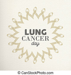 Lung cancer day awareness design made of ribbons - Lung...