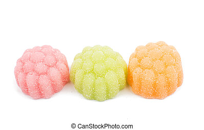 jelly candy on a white background