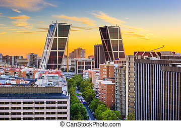 Madrid, Spain Cityscape - Madrid, Spain financial district...