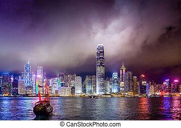 Hong Kong, China Cityscape - Hong Kong, China skyline on...