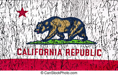 State of California Flag - Grunge Rustic State of California...