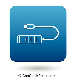 Usb hub icon, simple style - Usb hub icon in simple style in...