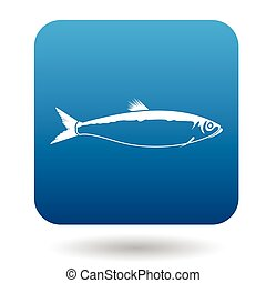 Herring icon, simple style - Herring icon in simple style in...