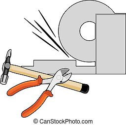 Metalworking Vector illustration