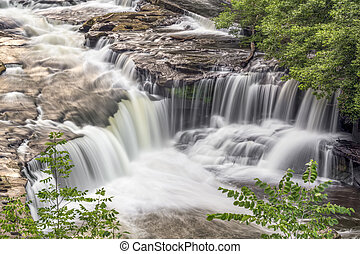 Waterfall on the Cuyahoga - Whitewater plunges over the...