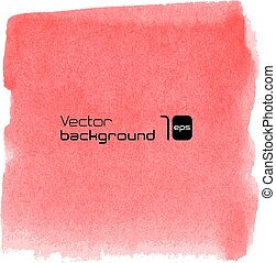 Water-colour red background for presentation - Water-colour...
