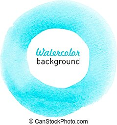Water-color blue background.