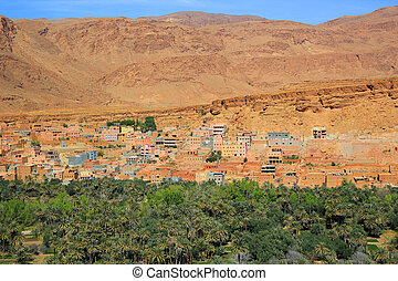 Moroccan village oasis - Moroccan village on the Eastern...