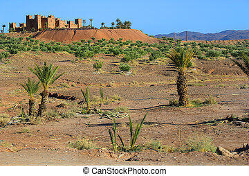 Kasbah in Morocco, Africa - Kasbahs along The Road of a...