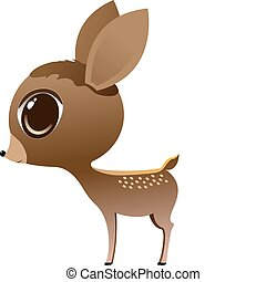 bambi - cute vector bambi character illustration