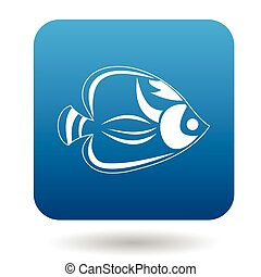 Fish tang icon, simple style - Fish tang icon in simple...