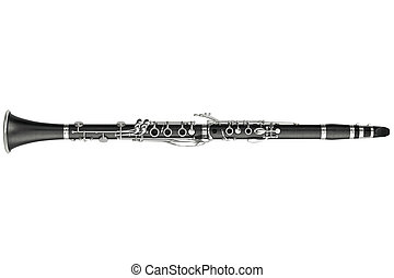 Clarinet classical, top view - Clarinet classical woodwind...