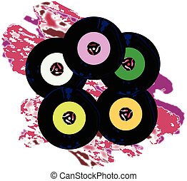 Singles Collection Jazz Background - A collection of 45 rpm...