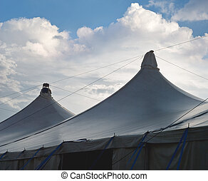 Circus Tents with Cumulus Clouds - Creative Treatment of...