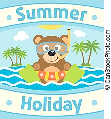 Summer animal background 4.eps