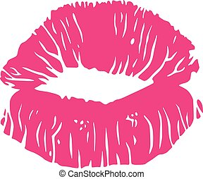 Sexy Lipstick Kiss Stain Vector