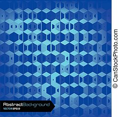 Blue geometric abstract background.