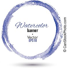 Hand drawn watercolor frame for your design.