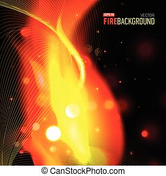 Abstract background with fire for presentation.
