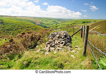 "View from Porlock Hill, Exmoor - ""Lorna Doone\' country."
