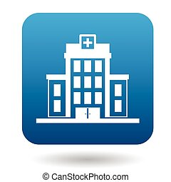 Hospital building icon, simple style - Hospital building...