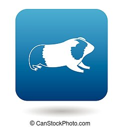 Guinea pig icon, simple style - Guinea pig icon in simple...