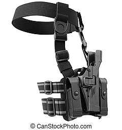 Holster uniform security - Holster on belt for gun uniform...