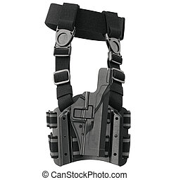 Holster plastic belt, side view - Holster plastic protection...