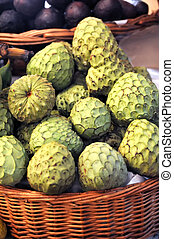 Sugar-apple, Annona squamosa - fruit of Madeira