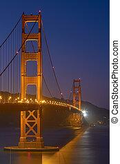 Golden Gate Bridge at Night in San Francisco, California, United States