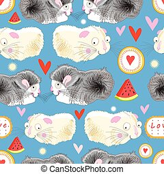 Pattern enamored hamster - Funny graphic pattern lovers...