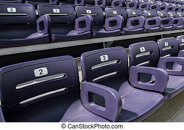 Purple Stadium Seats Tight High Angle