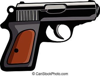 Personal Pistol Gun Vector Clipart