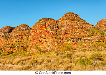 Beehives in Bungle Bungles National Park - Beehives in warm...