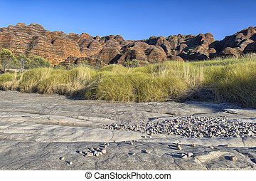 Dry riverbed of Piccaninny Creek, Bungle Bungles National...