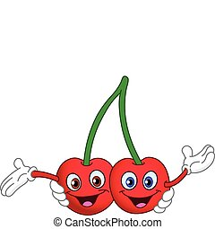 Cherry - Cartoon cherry twins