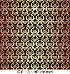Seamless Gold Art Deco Pattern - Seamless Art Deco Pattern...