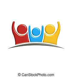 People Parent and Child Logo. 3D Rendering illustration