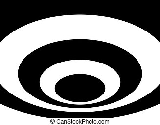Optical Art Vortex. - Optical art vortex. Concentric circles...