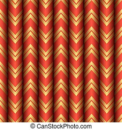 Seamless Gold and Red Curtain