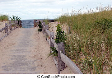 sandy boardwalk