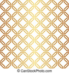 Seamless gold link weave pattern - Seamless Interwoven...