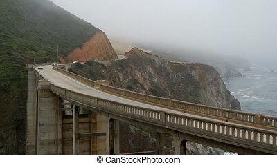 PCH California bridge scenic view - Foggy day PCH California...