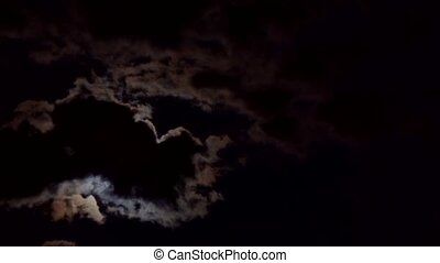night sky with moon and clouds moon clouds night