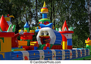 Inflatable child playground - Colorful inflatable child...