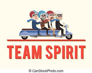 Team spirit business man
