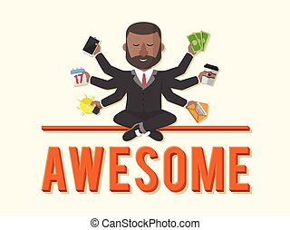 businessman awesome illustration design