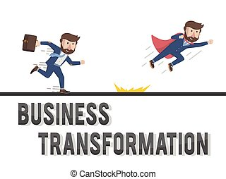 businessmen transformation illustration design