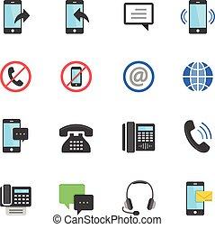 Color icon set - communication