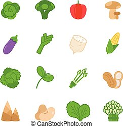 Color icon set - vegetable